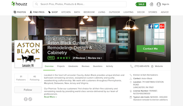 Houzz is a great resource for gathering inspiration when planning a new kitchen.